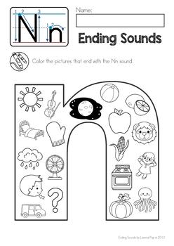 Ending Sounds Color It!