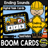 Ending Sounds Construction Theme BOOM Cards