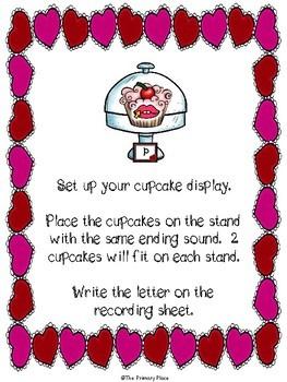 Ending Sounds Cupcakery Literacy Center