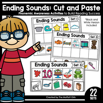 Ending Sounds (Cut and Paste): Phonemic Awareness