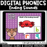 Ending Sounds Digital Phonics Activities | Distance Learning