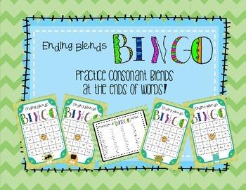 Ending Sounds (Final Consonant Digraphs) Bingo Game!