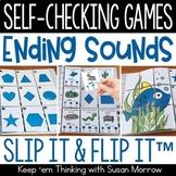 Ending Sounds | 17 Final Consonant Sound Self Checking Games
