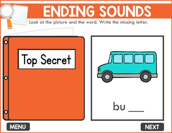 Ending Sounds Game -  Phonics Game for Smartboards & Whiteboards