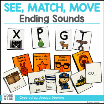 Ending Sounds Game- See, Match, Move