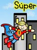 Ending Sounds Game in Spanish- Superhero Theme