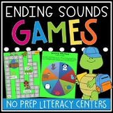 Ending Sounds Games - Ending Sounds Activities - Ending Sounds Literacy Centers