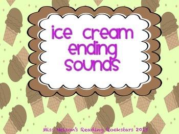 Ending Sounds Ice Cream Cones!