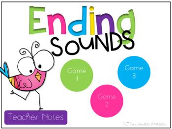 Ending Sounds Interactive Game