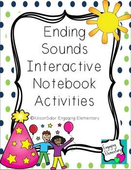 Ending Sounds Interactive Notebook Activities