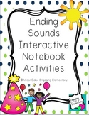 Ending Sounds Interactive Notebook Activities