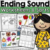 Ending Sounds Worksheets and Picture Sorts