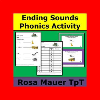 Ending Sounds Task Cards