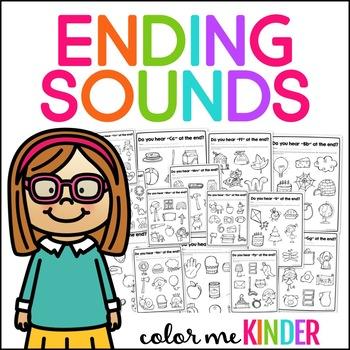 Ending Sounds No Prep Printable Pack