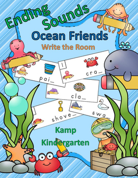 Ending Sounds Ocean Friends Write the Room