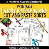 Ending Sounds Phoneme Isolation Sorts