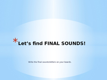 Ending Sounds Powerpoint