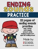 Ending Sounds Practice Pages