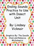 Ending Sounds Practice for Bug Unit