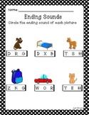 Ending Sounds Printable Worksheet