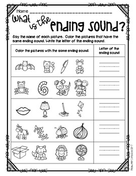Ending Sounds Printables