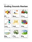 Ending Sounds Review BLENDS (sh, th, ch)