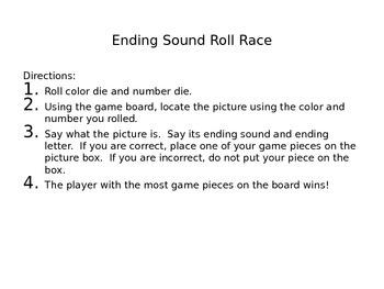 Ending Sounds Roll Race