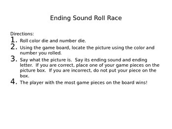Ending Sounds Roll Race