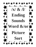 Ending Sounds Sort /x/ /l/ and /m/ /r/