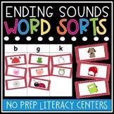 Ending Sounds Word Sorts - Ending Sounds Worksheets