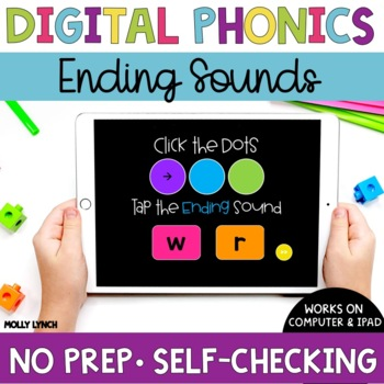 Ending Sounds Sound Tappers - Digital Phonics Learning {PowerPoint Games}