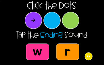 Distance Learning Ending Sounds Sound Tappers - Digital Phonics PowerPoint Games
