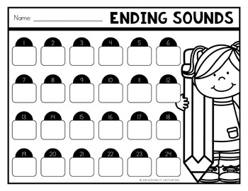 Ending Sounds Task Cards {Final Sound Identification}