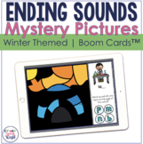 Ending Sounds Winter Mystery Picture BOOM Cards™