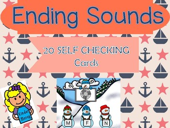 Ending Sounds Winter Themed Boom Cards Internet Activity