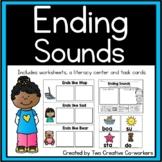 Ending Sounds Worksheets for Kindergarten