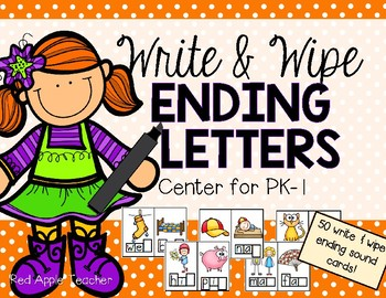 Ending Sounds Write & Wipe--Center for Your PK-1 Class