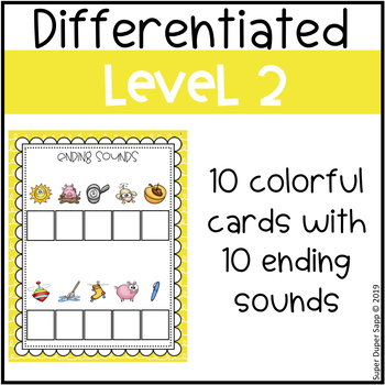 Ending Sounds Write the Letter Activity