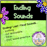Ending Sounds- activities for learning last or final sound