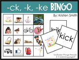 Ending Sounds (-ke, -ck, -k) Bingo Game
