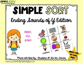 Ending Sounds of Y Sorting Cards