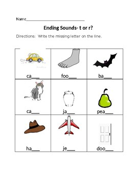 Ending Sounds-t or r?