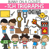 Ending -TCH Trigraphs Clipart by Bunny On A Cloud
