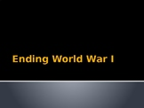 Ending WWI - Cost of Peace