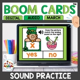 Ending and Beginning Sounds Boom Cards March