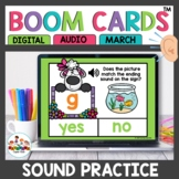 Ending and Beginning Sounds Boom Cards Spring