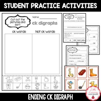 Ending /ck/ Digraph Pack