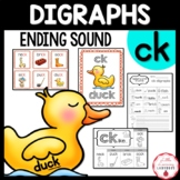 Ending CK Digraph Phonics Posters, Activities, and Worksheets