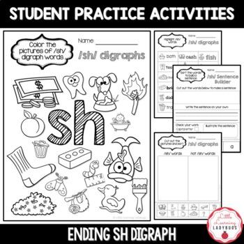 Ending /sh/ Digraph Pack