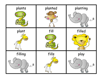 Ending sounds (-s, -ed, -ing), Suffix s, suffix ed, and suffix ing
